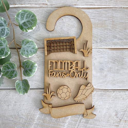 Door Hanger Layered Football Theme