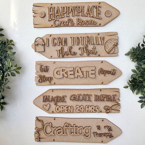 Craft Room Theme Direction Sign