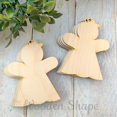 10 Pack Birch Plywood Christmas Tags Gingerbread Girl