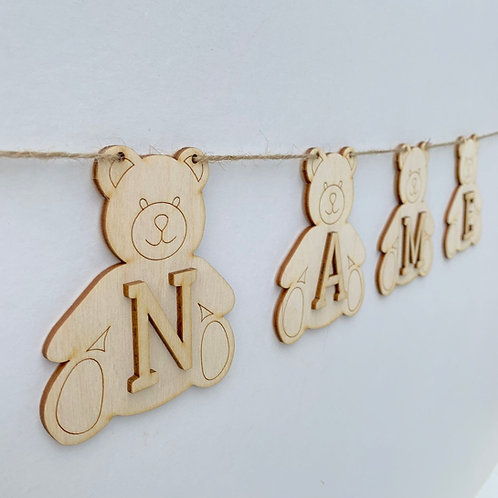 Teddy Bunting with Letters