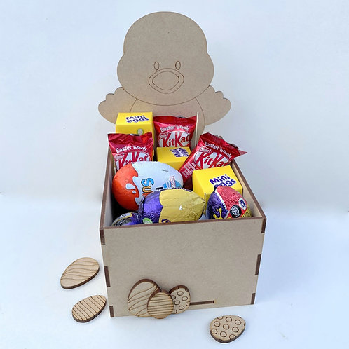 MDF Easter Fillable Treat Box Chick