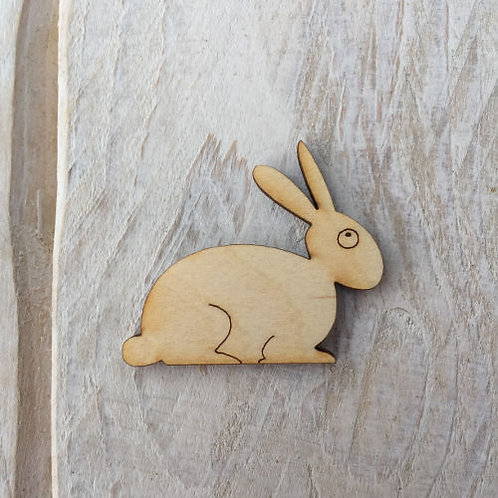 12 Pack Wooden Rabbit Fairy Door Accessory