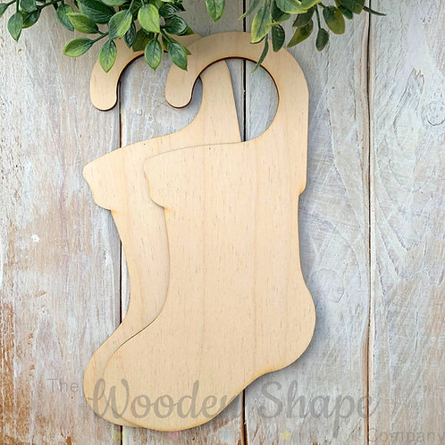 2 Pack Birch Plywood Door Hanger Stocking