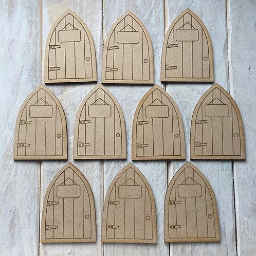 10 Pack MDF Fairy Door Bargain Mini Flat P