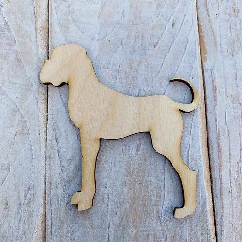 Plywood  Boxer Dog Shape 10 PACK