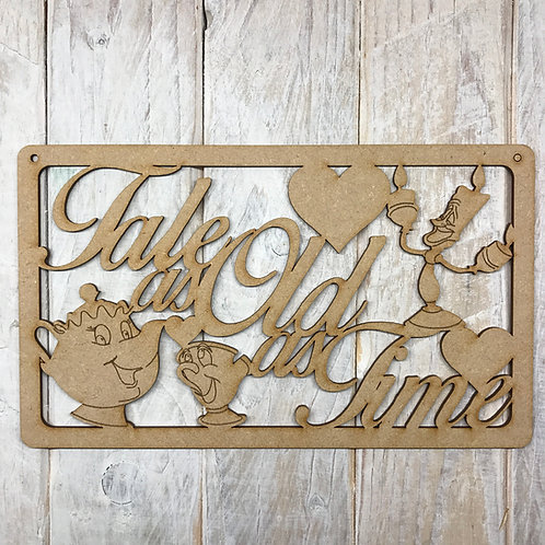 MDFTALE AS OLD AS TIME Wording Craft Wood Wall Art