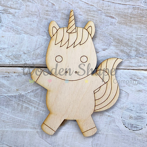 Plywood Unicorn Hug Shape 10 Pack