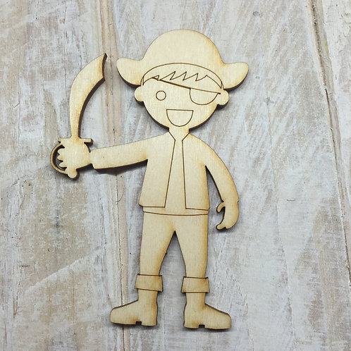 Plywood Pirate Boy Shape 10 PACK
