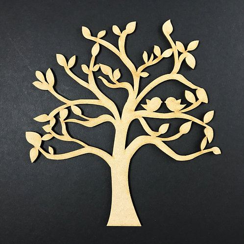 MDF Wooden Tree Code Love Birds