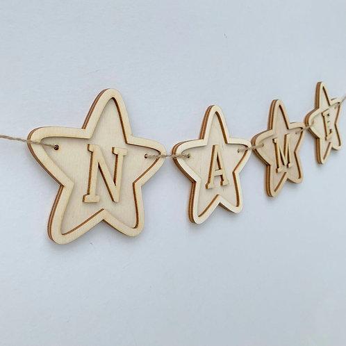 Plywood Frame Star Bunting