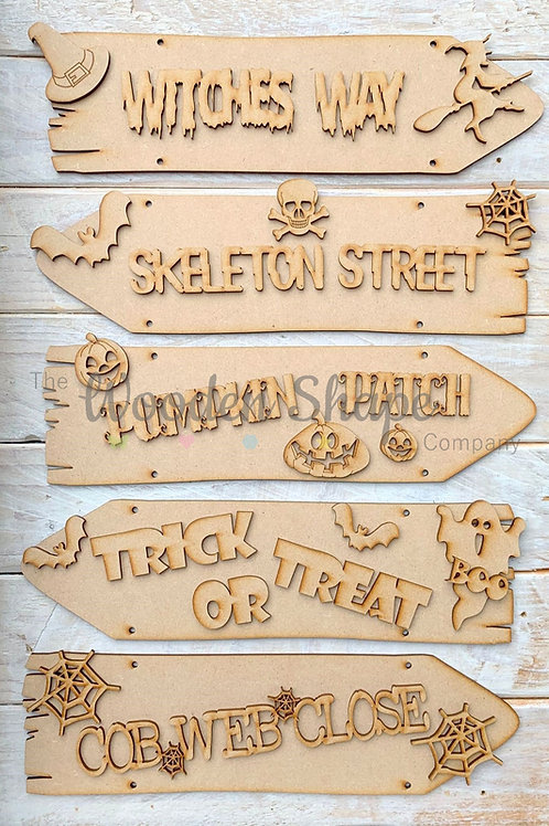 Halloween Direction Sign