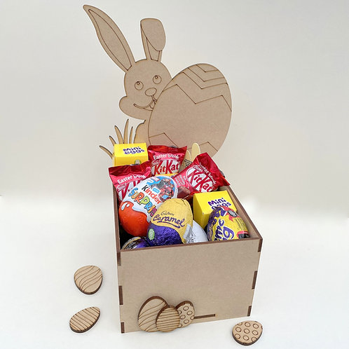 MDF Easter Fillable Treat Box Bunny with Egg