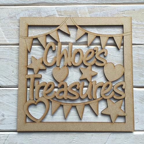 "Personalised Name Frame ""Name"" Treasures"