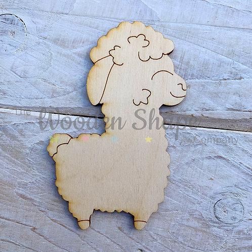 Plywood Llama Hug Shape 10 Pack