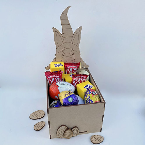 MDF Easter Fillable Treat Box Gnome Girl