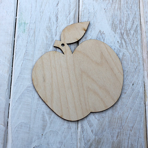 Plywood Apple Shape 10 PACK