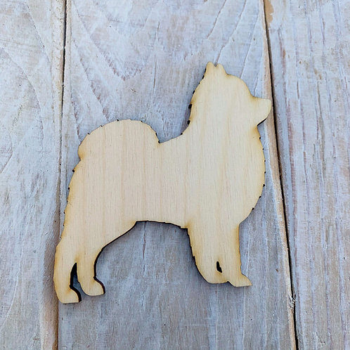 Plywood Pomeranian Dog Shape 10 PACK