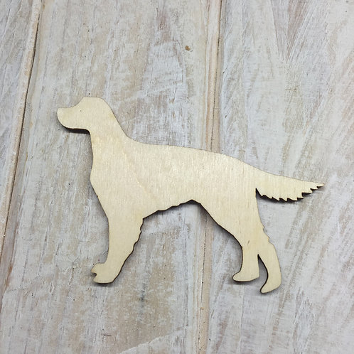 Plywood Red Setter Dog Shape 10 PACK