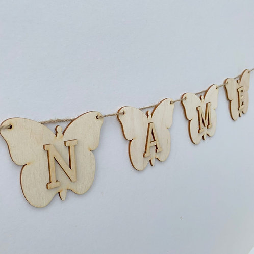 Butterfly Bunting with Letters