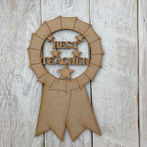 MDF Best Teacher Rosette