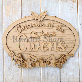 MDF Laser Cut Christmas at the Oval Sign