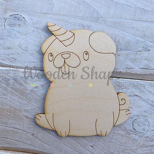 Plywood Pug Hug Shape 10 Pack