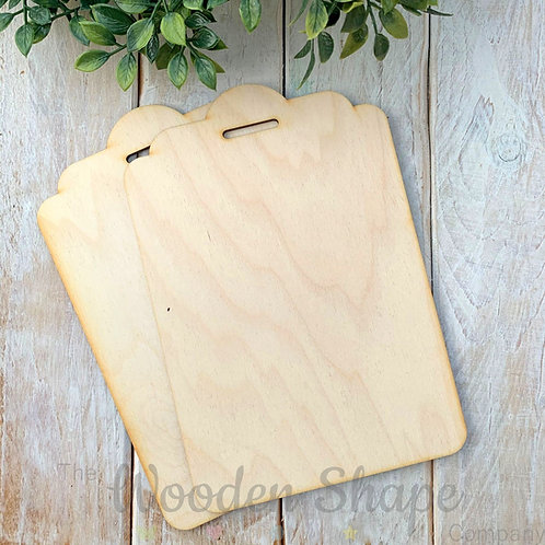 2 Pack Birch Plywood Plaque Large Gift Tag