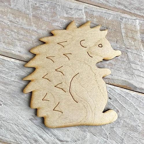 Plywood Hedgehog Standing 10 Pack