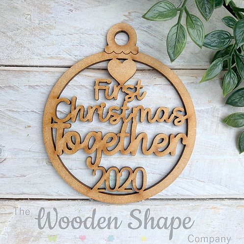 MDF Bauble First Christmas Together 2020