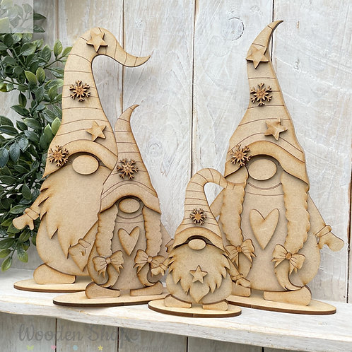 MDF Freestanding Nordic Gnome Gonk Boy Girl Various Sizes