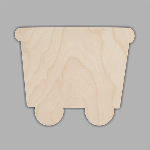 Plywood Train Carriage 10 Pack
