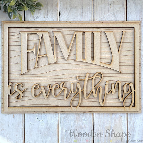 30cm MDF Sign Kit Family is Everything RWG