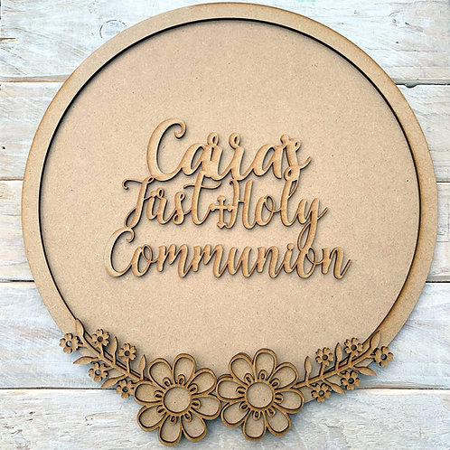 Layered Hoop Kit Backboard with First Holy Communion Personalised