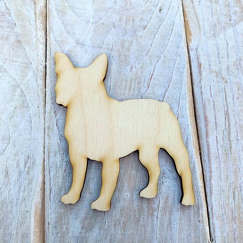 Plywood French Bulldog Dog Shape 10 PACK