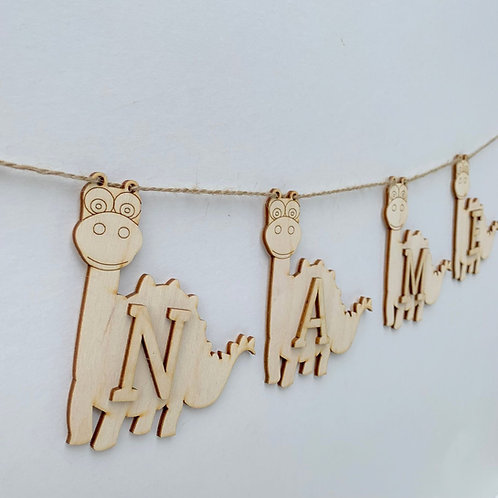 Dinosaur Bunting with Letters