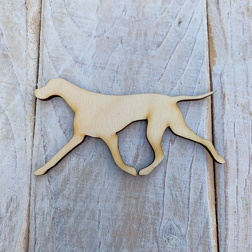 Plywood Rough Coated Parson Jack Russel Running Dog Shape 10 PACK