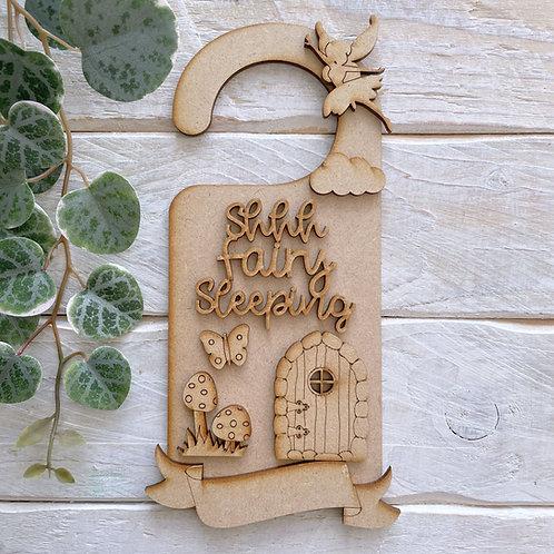 Door Hanger Layered shhh Fairy Sleeping