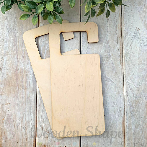 2 Pack Birch Plywood Door Hanger Square Hook