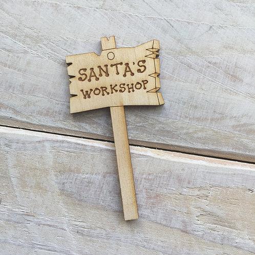 Sign Post R Santa's Workshop