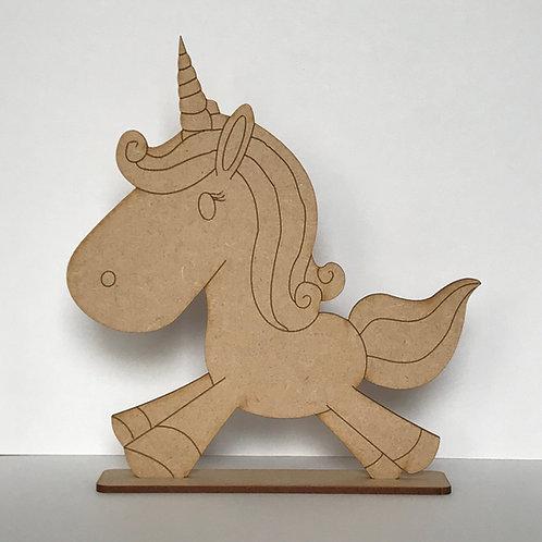 MDF Unicorn on Stand B
