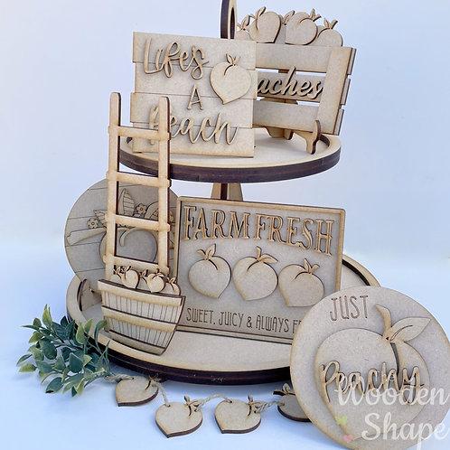 Peaches Theme Tiered Tray Kit