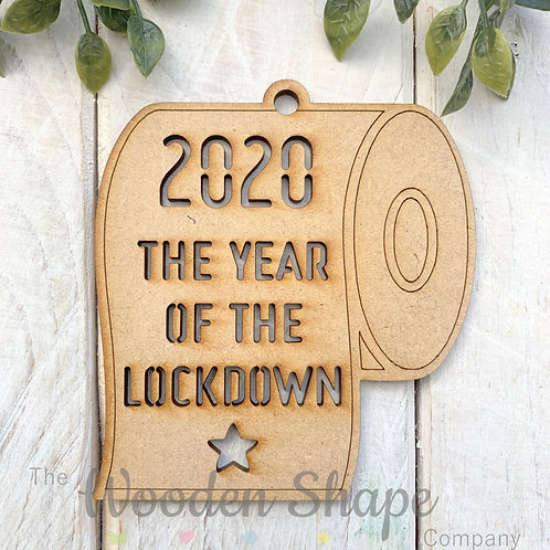 MDF Christmas Decoration Bauble Lockdown 2020 TRCO20