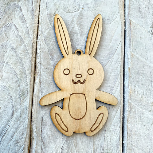 Plywood Sitting Bunny 10 Pack
