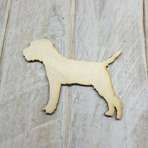 Plywood Border Terrier Dog Shape 10 PACK