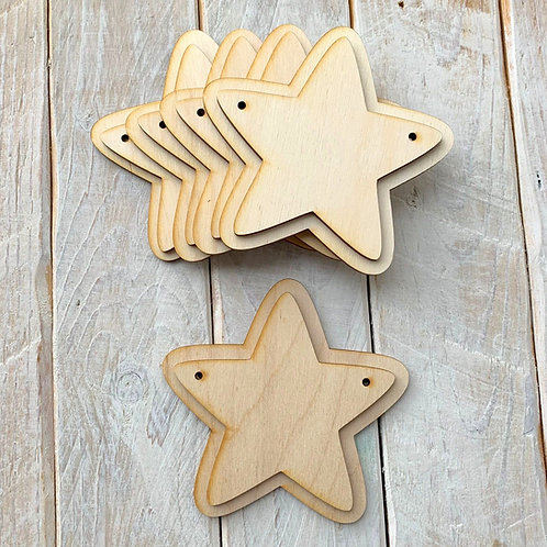 10 Pack Bunting Layered Star