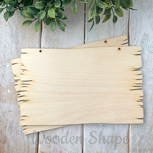 2 Pack Birch Plywood Plaque Rectangle Log