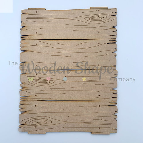 MDF Log Plank Plaque Different Sizes Available