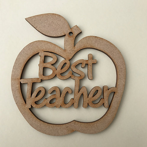 MDF Hanging Apple with Word Art