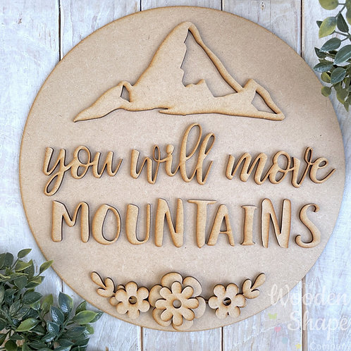 30cm MDF Sign Kit You Will Move Mountains CP