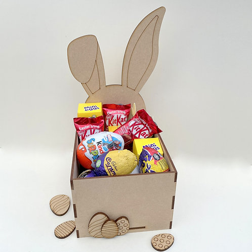 MDF Easter Fillable Treat Box Bunny Ears